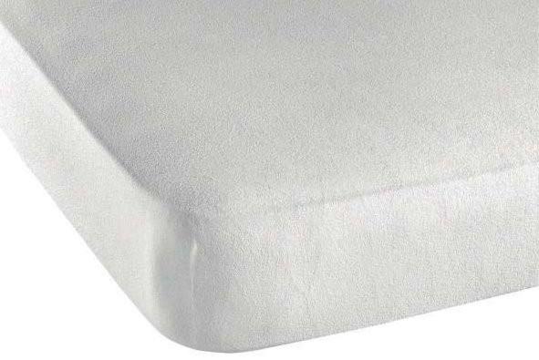 Matratzenbezug aus Frottee und Baumwolle mit Gummiband
