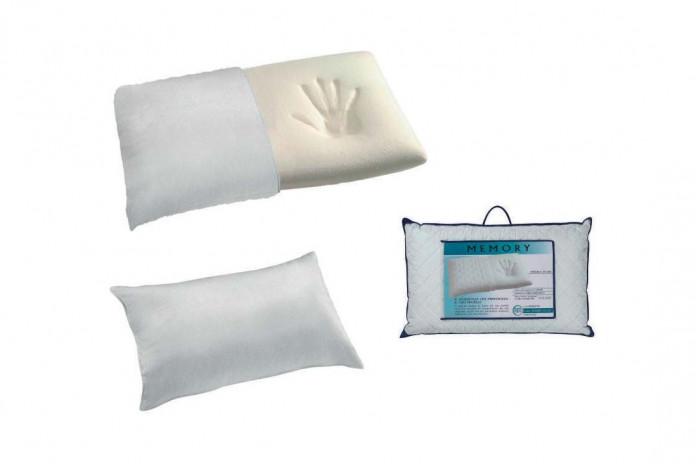 Il cuscino è in schiuma memory viscoelastica, la fodera in tessuto spugna.