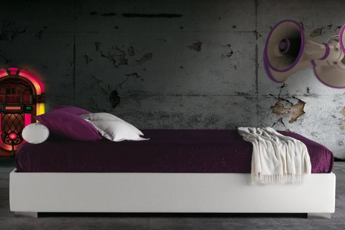 Platzsparendes Bett ohne Kopfteil Haiti von Milano Bedding