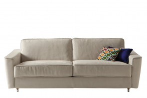 Petrucciani Sofa aus weißem Stoff