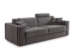 Ellington graues Sofa aus Samt