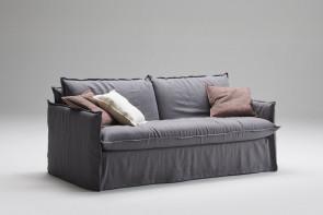 Komfortables Zwei- oder Dreisitzer-Sofa Clarke XL mit Knittereffekt-Polsterung