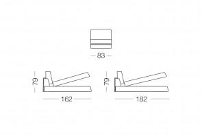 Shorter modernes Sofa mit Chaiselongue mit Stauraum