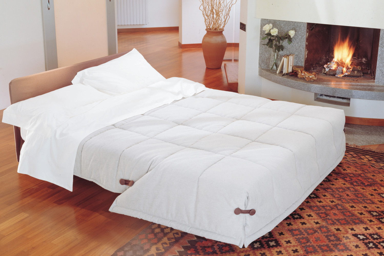 canap bz rapido avec couette int gr e ginger. Black Bedroom Furniture Sets. Home Design Ideas