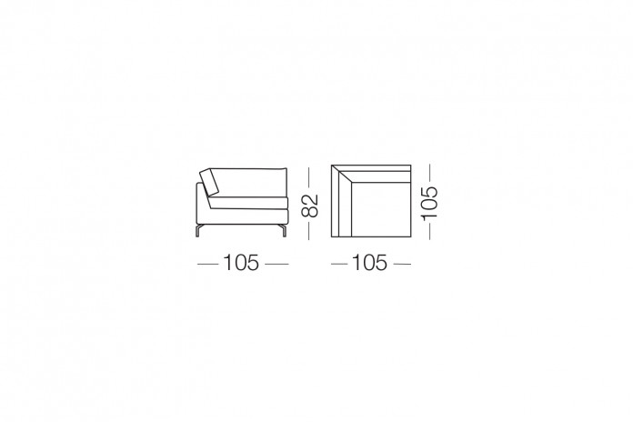 Dave est un canapé 3 places confortable, aussi disponible en 2 places L.160 cm