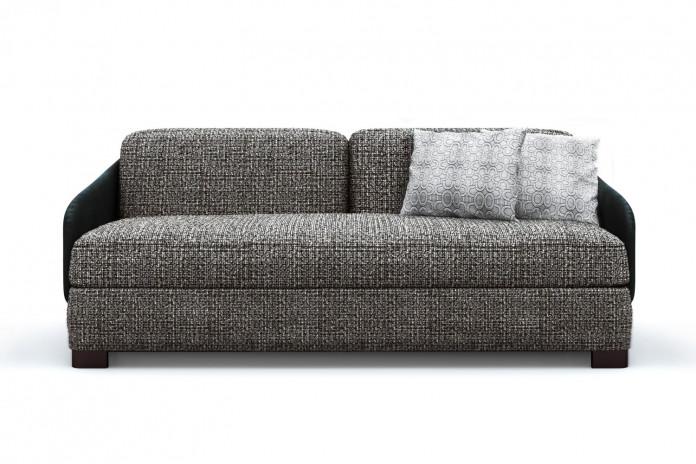 Canapé droit 3 places bicolore Vivien, design Alessandro Elli