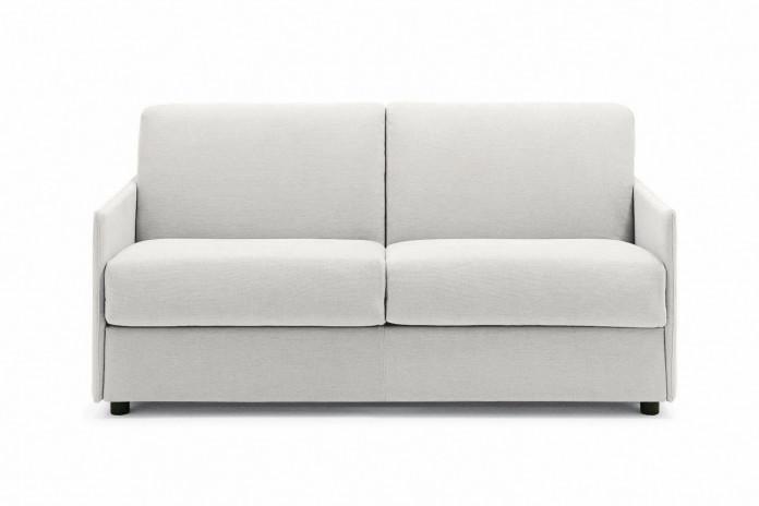 Canapé Stan 2: modèle avec accoudoirs fins pour petit espace