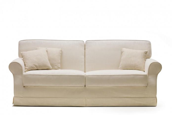 Canapé convertible pour couchage quotidien Gordon: style campagne chic, shabby, romantique
