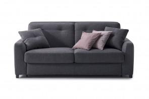 Canapé 2 places moderne avec pieds bas recouverts en tissu, simili, cuir