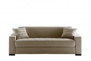 Matrix est un canapé convertible en simili cuir blanc avec matelas long 200 cm
