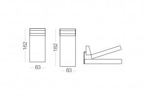 Duke - méridienne coffre, dimensions
