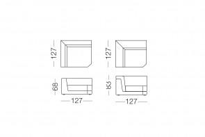 Joe - élément d'angle, dimensions