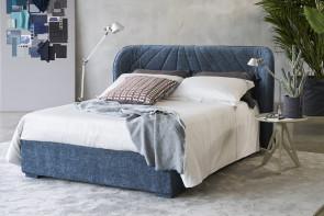Lit coffre 160x200 avec tête de lit décorée Victoria