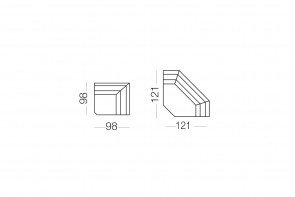 Matrix - élément d'angle, dimensions
