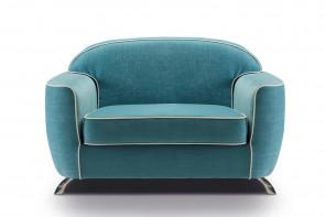 Grand fauteuil rétro au design vintage Charles